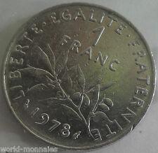 1 franc semeuse 1978 : TB : pièce de monnaie française