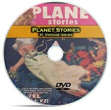 Planet Stories, 41 Classic Pulp Magazines, Golden Age Science Fiction DVD CD C54