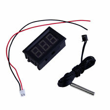 Red DC12V Digital Thermometer With Temp Probe Temperature LED Detector HS