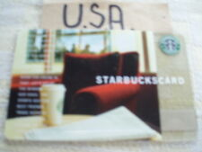 USA ,Starbucks    gift card. new 6024 old logo red chair