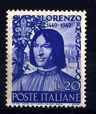 ITALIA REP. - 1949 - 500° della nascita di Lorenzo Il Magnifico