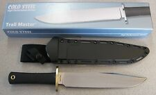 NEW Cold Steel Trail Master 39L16CT Bowie Knife & SecureEx Sheath O-1 Steel