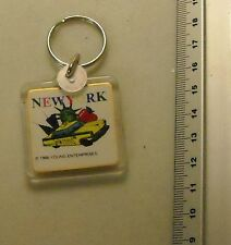 1996 New York Taxi, Empire State, Twin Towers, Red Apple plastic keyring