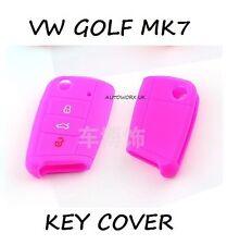 VW VOLKSWAGEN GOLF MK7 CAR FLIP KEY CASE PELLE Protezione COVER SKIN MARK 7 ROSA