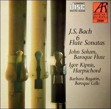 Bach: Six Flute Sonatas - John Solum - Igor Kipnis (CD, 1993, Arabesque)