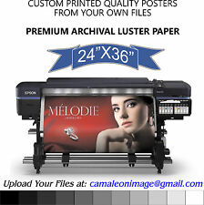 "10 Pack CUSTOM PRINTED QUALITY POSTERS FROM YOUR OWN FILES 24"" x 36"""