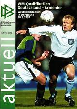 WM-Qu. 10.09.1997 DFB-Aktuell 5/1997  Deutschland - Armenien in Dortmund