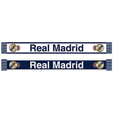 REAL MADRID WHITE & BLUE OFFICIALLY LICENSED SCARF