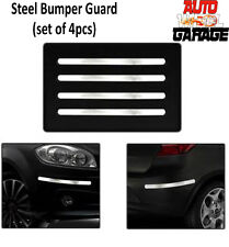 Stainless Steel Chrome Bumper Protection Guard for Hyundai Grand i10- 4pcs