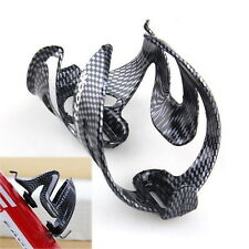 Cycling Bicycle Outdoor Carbon Fiber Water Bottle Drinks Holder Cages Rack LO