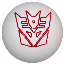 Transformers Decepticon White with Red Shift Knob 7/16-14 thread U.S. Made