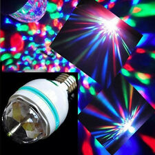 3W E27 LED RGB Crystal Rotating Stage Bulb Party Disco DJ Bar XMAS Colorful Lamp