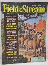 Field & Stream Magazine October 1960 Mule Deer Hunting With Ted Trueblood