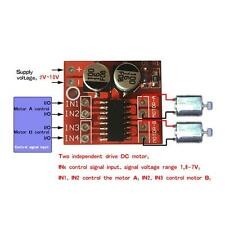 New 1.5A Mini Dual Channel DC Motor Driver Module Beyond L298N PWM Speed control