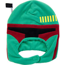 OFFICIAL STAR WARS BOBA FETT BOUNTY HUNTER COSTUME VELCRO BEANIE HAT *NEW*