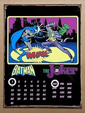 DC Comics Batman & The Joker - Tin Metal Perpetual Calendar