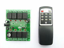 Wireless InfraRed IR 8-Channel Remote Control Relay Board module Home Automation
