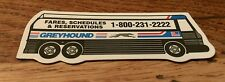 Vintage Greyhound Bus Transportation Fares Schedules Rare Collectible Magnet