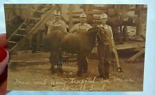 RPPC Coal Miners Pit Pony Antique Postcard Bicknell Indiana 1941 Explosion Site