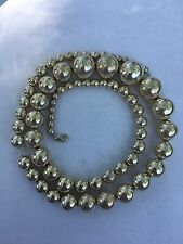 """VINTAGE NATIVE AMERICAN STERLING SILVER GRADUATED BEAD 24"""" NECKLACE 4mm TO 15mm"""