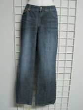 Chico's Platinum Denim Jeans in Size 0.5 Size 6 with Brass Stud Detail