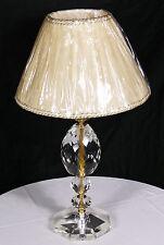 IMPORTANTE LUME CLASSICO LAMPADA TAVOLO CRISTALLO VETRO PARALUME PLISSE ART.LU6
