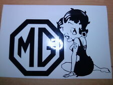 Betty Boop mg girls girly vinyl car sticker novelty funny fun decals zr zt zs tf