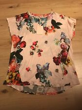 Ted Baker Oil Painting Floral Print Top T-Shirt Tee. Size 2 3. BNWT