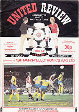 Manchester United v Oxford United 1983 / 84  Milk Cup 4th Rd Rep - December 7th