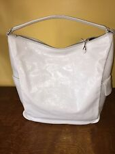 Authentic Yves Saint Laurent white leather bag made in Italy #247428467891