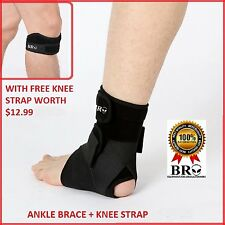 NEW BRO ANKLE SUPPORT 3 Point Compression BRACE Sprain Swollen Sports Tendinitis