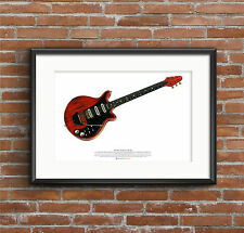Brian May's Red Special guitar ART POSTER A2 size