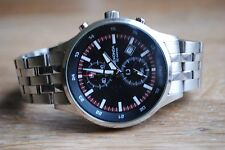 Lovely Men's Stainless Steel Sekonda Chronograph Watch. GWO Large Face Chunky