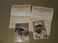 1992 WILD BILL ELLIOTT FAN CLUB INFORMATION,POSTCARD,DAWSONVILLE,GEORGIA,NASCAR
