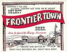 Frontier Town Beer Label