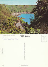 1970's MOULIN HUET FROM CLIFF PATH GUERNSEY CHANNEL ISLANDS COLOUR POSTCARD