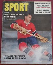 January 1959 Sport Magazine Maurice Richard Montreal Canadiens Cover Robertson