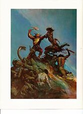 "1975 full Color Plate "" Indomitable"" by Frank Frazetta Fantastic GGA"