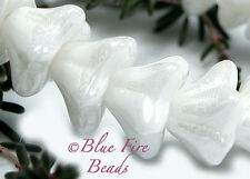 "BFB-Premium Czech Pressed Glass Bell Flower Beads 8/ 6mm BABY'S BREATH"" 15"