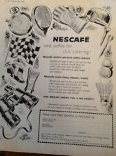 L1-6 Advert 1959 Nescafe Best Coffee For Club Catering