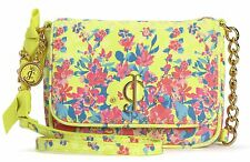 NWT Juicy Couture Island Blooms Lemon Pop Embellished Mini G Crossbody Bag