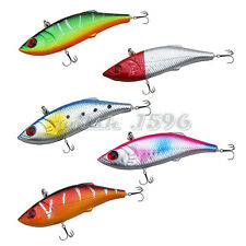 5pcs Winter Fishing Lures Hard Bait VIB & Lead Ice Sea Swivel Lure 7cm/10g