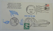 Space Shuttle Judy Resnik cover - 3 postmarks -1st time in space, lost, 1 yr mem