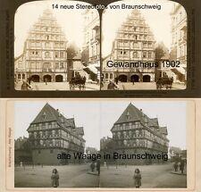 14 Stereofotos von Braunschweig usw. um 1880 - 1900