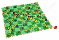 GIANT SNAKES AND LADDERS FLOOR MAT CHILDRENS KIDS FAMILY BOARD GAME TOY