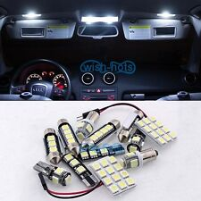 White 12pcs Light LED 12V Canbus Interior Kit For 00-2007 Mercedes C-Class W203