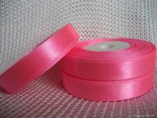 "15 yards Of 12 mm (1/2"") Satin Ribbon Rolls Many Colours Free P&P"