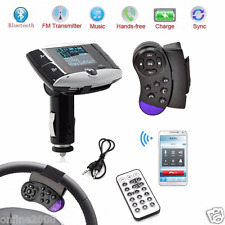 "1.5"" LCD Bluetooth FM Transmitter Car Kit MP3 Player Modulator SD MMC USB Remote"