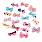10PCS Cute Girl Baby Hair Snap Clips For Girl Mixed Color Bow Hair Accessories