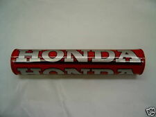 "NEW SHINEY BAR PAD HANDLEBAR PAD 10"" OR 250MM RED HONDA RED + SILVER SCRIPT CRF"